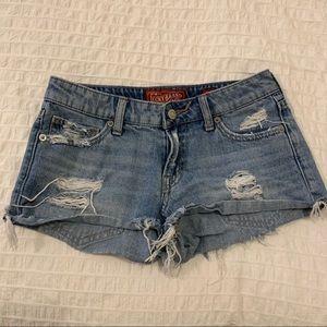 Lucky Ripped Denim Shorts